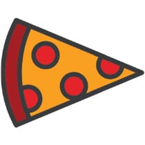 Icon of a pizza